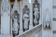 St. Francis Xavier, Dominic of Guzman and Michael Archangel Royalty Free Stock Images