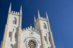 St. Francis Xavier's Church Malacca Royalty Free Stock Photo