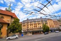 St Francois места Лозанны в Швейцарии Стоковое фото RF