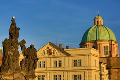 St. František z Assisi Church, Old Buildings, Moldau, Old Town, Prague,  Czech Republic Stock Photos