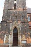 St gótico do século XIV Elisabeth Church, torre, mercado, Wroclaw, Polônia fotos de stock