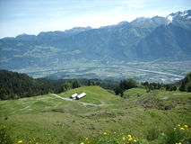 Κοιλάδα του Ρήνου στο ST Gallen, Ελβετία Στοκ Εικόνες