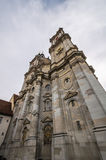 St. Gallen abbey from below Stock Image