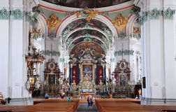 St. Gallen cathedral interior. Royalty Free Stock Photos