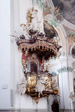 St. Gallen cathedral interior. Stock Image