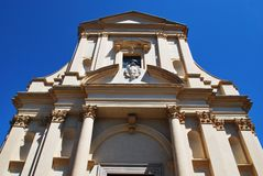St. Gaudenzio church facade, Novara Royalty Free Stock Photos