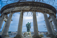 St Gellert statua, Budapest, Węgry Obraz Stock