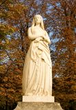 St Genevieve in the Luxembourg garden. Statue of St Genevieve, the patron of Paris, in the Luxembourg garden of Paris, France stock photos