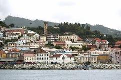 Взгляд острова Гренады, St. George, карибского Стоковое Изображение RF