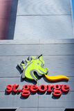 St George banka symbol na budynku biurowym Perth Obraz Royalty Free
