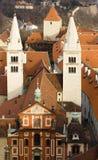 St. George Basilica bij het Kasteel van Praag Royalty-vrije Stock Afbeeldingen