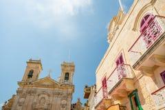 St George Basilica, Victoria, Malta stock afbeelding