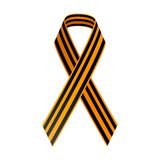 St George Black and gold Ribbon. May 9, Happy Victory day. Russian holiday. Royalty Free Stock Photo