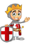 St. George Boy King Character Stockfoto