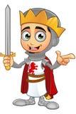 St. George Boy King Character Lizenzfreie Stockfotos