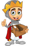 St. George Boy King Character. A illustration of a cartoon St. George Boy King character Royalty Free Stock Image