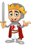 St. George Boy King Character. A illustration of a cartoon St. George Boy King character Royalty Free Stock Photos