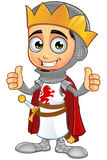 St. George Boy King Character. A illustration of a cartoon St. George Boy King character Royalty Free Stock Photography