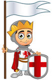 St. George Boy King Character. A illustration of a cartoon St. George Boy King character Stock Photos