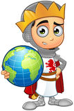 St. George Boy King Character. A illustration of a cartoon St. George Boy King character Royalty Free Stock Images