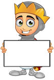 St. George Boy King Character. A illustration of a cartoon St. George Boy King character Stock Photography