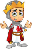 St. George Boy King Character. A illustration of a cartoon St. George Boy King character Stock Image