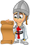 St. George Boy Knight Character. A illustration of a cartoon St. George Boy Knight character Stock Images