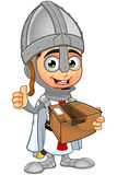 St. George Boy Knight Character. A illustration of a cartoon St. George Boy Knight character Royalty Free Stock Photos
