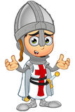 St. George Boy Knight Character. A illustration of a cartoon St. George Boy Knight character Stock Photo