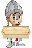 St. George Boy Knight Character. A illustration of a cartoon St. George Boy Knight character Stock Photos