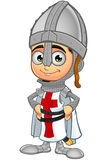 St. George Boy Knight Character. A illustration of a cartoon St. George Boy Knight character Stock Photography