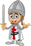 St. George Boy Knight Character. A illustration of a cartoon St. George Boy Knight character Royalty Free Stock Image