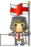 St George Cartoon Knight Fotografering för Bildbyråer