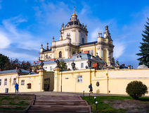St George Cathedral à Lviv Photo stock