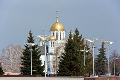 St. george cathedral. St. Georgy (victorious) cathedral at the Samarskay square Royalty Free Stock Photography