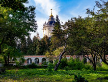 St George Cathedral de jardin à Lviv Images stock