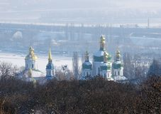 St. George Cathedral of the Vydubychi Monastery stock photo