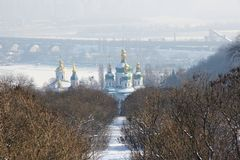 St. George Cathedral of the Vydubychi Monastery stock images