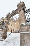 St. George Cathedral Winter des frühen Morgens in Lemberg, Ukraine Lizenzfreies Stockfoto