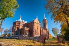 St George Catholic Church em Zasliai fotos de stock royalty free