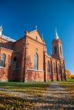 St George Catholic Church en Zasliai fotografía de archivo libre de regalías