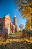 St. George Catholic Church in Zasliai stock photo
