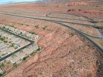 St George chez l'Utah images libres de droits