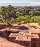 St George Church chez Lalibela en Ethiopie images stock