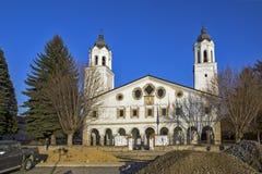 St. George Church in Historical town of Panagyurishte, Pazardzhik Region, Bulgaria. PANAGYURISHTE, BULGARIA - DECEMBER 13, 2013:St. George Church in Historical stock photo