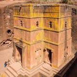 St George Church in Lalibela in Ethiopië Royalty-vrije Stock Foto's