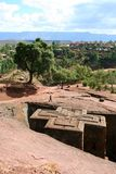 St. George Church, Lalibela, Ethiopia. St. George Church.  One of the famous ancient churches made of rock in Lalibela, Ethiopia.  Considered one of the Eighth Stock Images