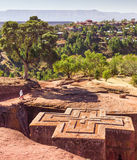 St George Church a Lalibela in Etiopia immagini stock