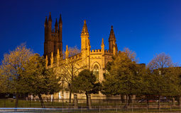 St George Church Manchester. Gothic style architecture of St George church in Manchester England Stock Photos