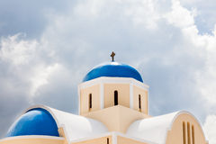 St George Church Oia Santorini Greec Stock Photo